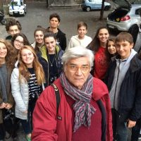 2015, Con gli allievi del mio corso di fotografia al Liceo Cassini di Genova