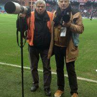 2016 Genova con il fotografo e amico Salvatore Giglio allo Stadio Ferraris