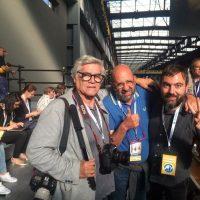 2017 Genova ILVA Cornigliano Visita Papa Francesco con Leoni e Balostro