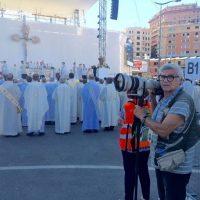27 05 2017 In Piazzale Kennedy a documentare la S. Messa officiata da Papa Francesco