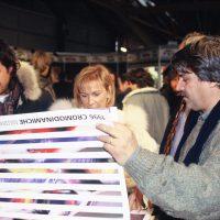 1996 Bologna, Motor Show , Presentazione calendario Cromodinamiche per OMP con Bergonzoni