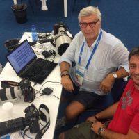 2017 Mondiali FINA Budapest con Giammatia D'Alberto in sala stampa