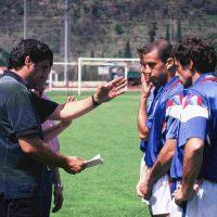 """Con Mancini Vialli e Baresi per shooting in location esterna per ASICS a Bogliasco nel campo di allenamento della Sampodoria """"Mugniaini"""""""