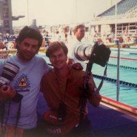 Europei di Atene 1991 con Simon Bruty in allora All Sport