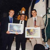 1998 Lausanne Museo del CIO per inaugurazione mia mostra Alchemy con Popov e Klimt