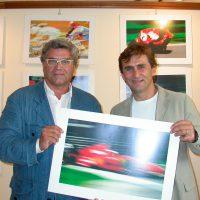 2004 Pontremoli, premio Bancarella Sport per la fotografia con Alex Zanardi