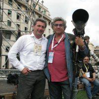 2008 Genova, Visita di Papa Benedetto XVi con Luca Bruno