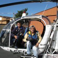2008 con Paolo Maggi su elicottero per volare sul Salone Nautico