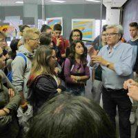 """Con gli studenti del Liceo Artistico di Macerata al seminario, durante l'inaugurazione della mostra """"Fotogrammi di una ricerca"""""""