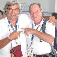 2009 Roma Mondiali di Nuoto, con Heinz Kluetmeier senior staff photographer Sport Illustrated: a living legend