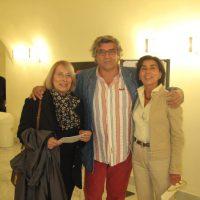 """con Elisabetta Papone ( RESP mostre Palazzo Rosso ) e Giuliana Traverso  inaugurazione mostra """"Il colore veloce"""""""