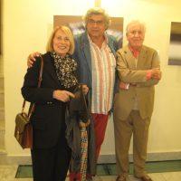 """Con Giuliana Traverso e Lanfranco Colombo all'inaugurazione mostra """"Il colore veloce"""" a Palazzo Rosso ( GE )"""