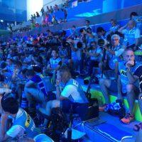 2017 Mondiali FINA Budapest io con tutti gli altri fotografi a bordo piscina