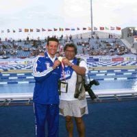 1999, Campionati Europei Nuoto di Istambul con Domenico Fioravanti oro nei 100 rana