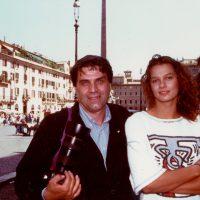1994 Con Franziska van Almsick durante i Mondiali di Nuoto di Roma