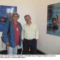 """A Lavagna (GE) con il critico Ferruccio Giromini alla mostra """"Solid Water"""" a Villa Grimaldi Gentile"""
