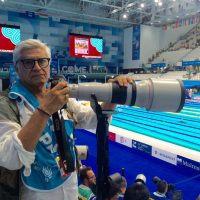 2017 Mondiali FINA Budapest Lovati con Canon 800 mm. F 5,6 nella postazione fotografi Duna Arena