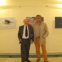 """Con il critico Germano Beringheli all'inaugurazione mostra """"Il colore veloce"""" a Palazzo Rosso ( GE )"""