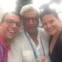 2017 Mondiali FINA Budapest un selfie con Hozsef Sipicz e Szilvia Varga dello Staff Media